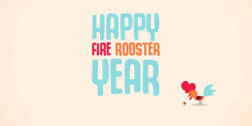 Happy Fire Rooster Year