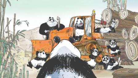 Pandas Dans La Brume - Série animée dans les studios de Squarefish - extrait de la saison 2